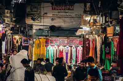 Nawab Bazar in Azam Cloth Market