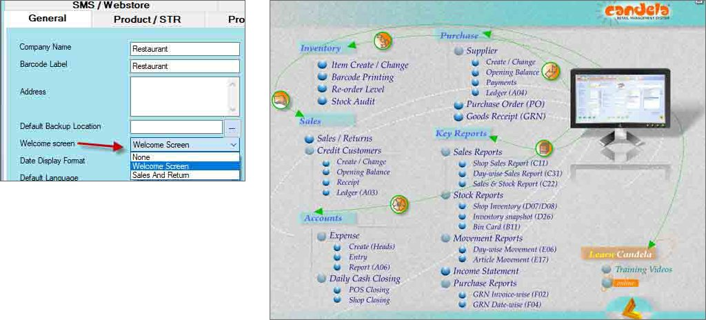 configuring-welcome-screen-in-retail software