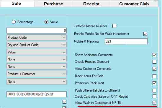 configure-NP-till-for-walk-in-customers-information
